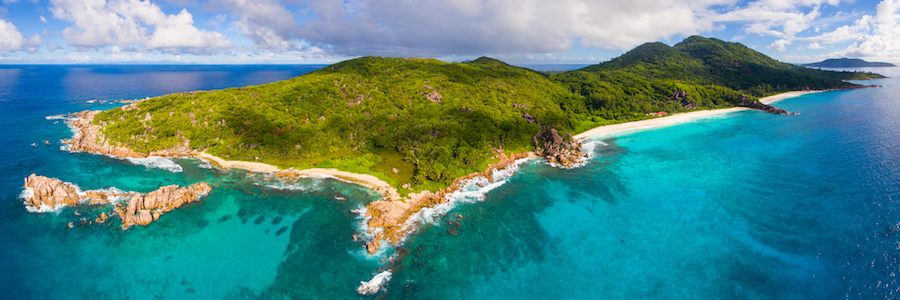 panorama la digue seychelles