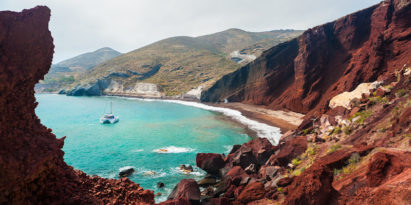 santorini red sand beach