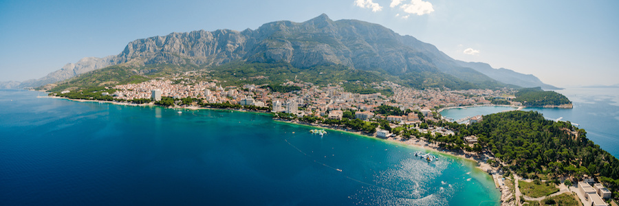aerial view of the makarska riviera