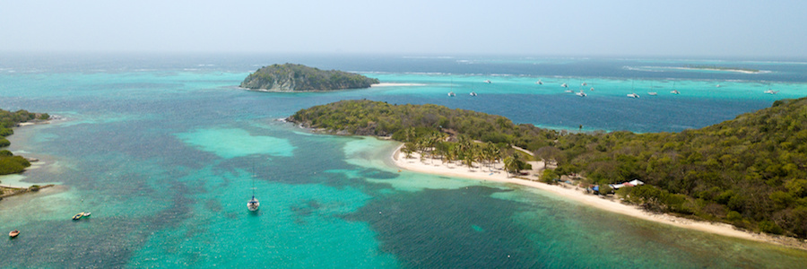 panoramic view tobago cays